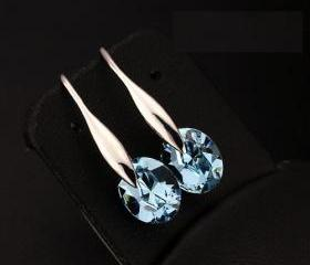 Swarovski Rhinestone Elegant 925 Sterling Silver Lady Earrings